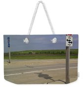 One Way Stop Weekender Tote Bag