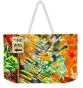 One Way Street Weekender Tote Bag