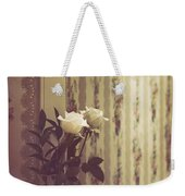 One White Rose Weekender Tote Bag
