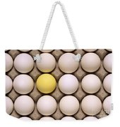 One Yellow Egg With White Eggs Weekender Tote Bag