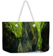 Oneonta River Gorge Weekender Tote Bag by Inge Johnsson