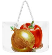 Onion And Red Pepper Weekender Tote Bag