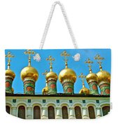 Onion Domes On Churches Of The Nativity And Deposition Of The Robe Inside Kreml Weekender Tote Bag