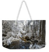 Onomea Stream In Infrared Weekender Tote Bag