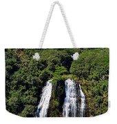 Opaekaa Falls In Kauai Weekender Tote Bag