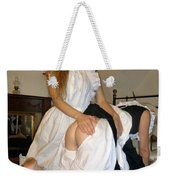 Open Back Bloomers On A Naughty Maid Weekender Tote Bag