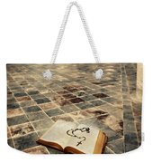 Open Book And Roasary On The Floor Weekender Tote Bag