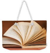 Open Book In Retro Style Weekender Tote Bag