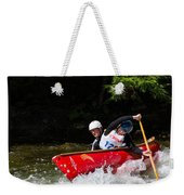 Open Canoe Whitewater Race - Panorama Weekender Tote Bag