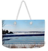 Open Creek - Ice Fishing - Winter Weekender Tote Bag
