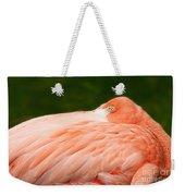 Flamingo With An Open Eye Weekender Tote Bag