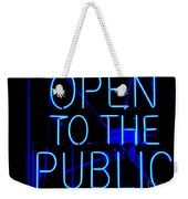 Open To The Public Weekender Tote Bag