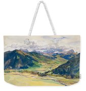 Open Valley. Dolomites Weekender Tote Bag