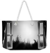 Open Window At Night Bw Weekender Tote Bag
