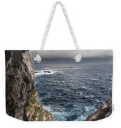 A Natural Window In Minorca North Coast Discover Us An Impressive View Of Sea And Sky - Open Window Weekender Tote Bag
