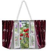 Open Window View Onto Wild Flower Garden Weekender Tote Bag