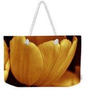 Opening Tulip Flower Golden Monochrome Weekender Tote Bag