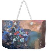 Ophelia Among The Flowers Weekender Tote Bag by Odilon Redon