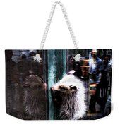 Opossum In The City Weekender Tote Bag