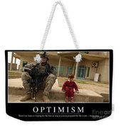 Optimism Inspirational Quote Weekender Tote Bag by Stocktrek Images