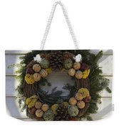 Orange And Artichoke Wreath Weekender Tote Bag