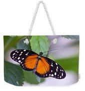 Orange And Black Butterfly Weekender Tote Bag