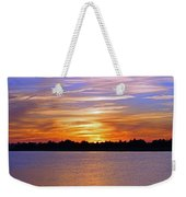 Orange And Blue Sunset Weekender Tote Bag