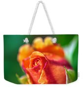 Orange And Fuschia Rosebud Weekender Tote Bag