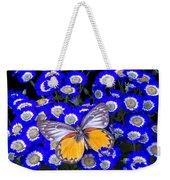 Orange And Gray Butterfly Weekender Tote Bag