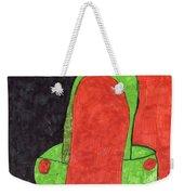 Orange And Green Weekender Tote Bag