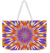 Orange And Purple Kaleidoscope Weekender Tote Bag