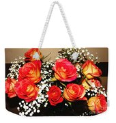 Orange Apricot Roses With Oil Painting Effect Weekender Tote Bag
