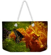 Orange Azalea Weekender Tote Bag