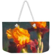 Orange Bearded Irises Weekender Tote Bag