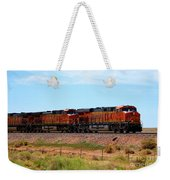 Orange Bnsf Engines Weekender Tote Bag
