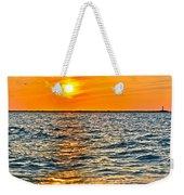 Orange Burn Weekender Tote Bag