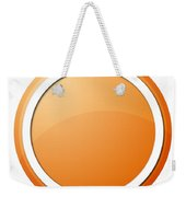 Orange Button Weekender Tote Bag