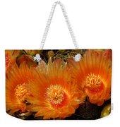 Orange Cactus Weekender Tote Bag