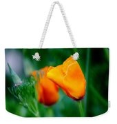 Orange California Poppies Weekender Tote Bag