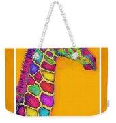 Orange Carosel Giraffe Weekender Tote Bag