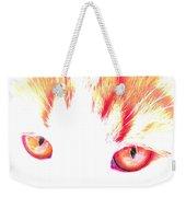 Orange Cat Eyes Weekender Tote Bag