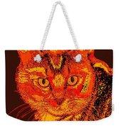 Orange Cat Weekender Tote Bag