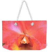 Orange Cattleya Orchid Weekender Tote Bag