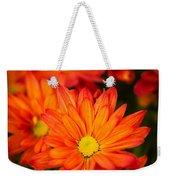 Orange Chrysanthemum Weekender Tote Bag