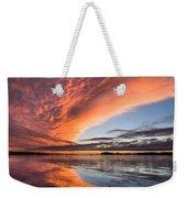 Orange Clouds Over Humboldt Bay Weekender Tote Bag