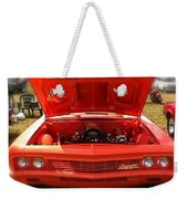 Orange Color Chevrolet Car Weekender Tote Bag