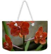 Orange Colored Orchid Weekender Tote Bag