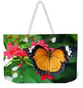Orange Common Lacewing Butterfly Weekender Tote Bag