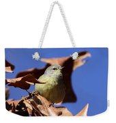 Orange-crowned Warbler - Feather Lite Weekender Tote Bag