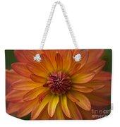 Orange Dahlia Blossom Weekender Tote Bag